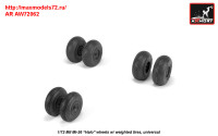 AR AW72062   1/72 Mil Mi-26 Halo wheels w/ weighted tires (attach3 31402)