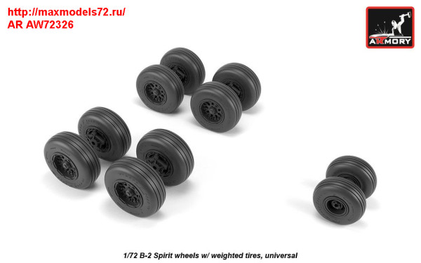 AR AW72326   1/72 B-2 Spirit wheels w/ weighted tires (thumb31412)