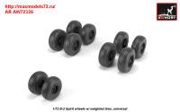 AR AW72326   1/72 B-2 Spirit wheels w/ weighted tires (attach3 31412)