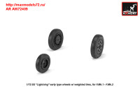 AR AW72409   1/72 EE «Lightning-II» wheels w/ weighted tires, early (attach1 31457)