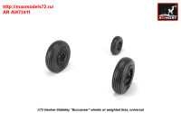 AR AW72411   1/72 Hawker-Siddeley «Buccaneer» wheels w/ weighted tires (attach1 31417)