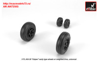 AR AW72503   1/72 JAS-39 «Gripen» wheels w/ weighted tires, early (attach1 31422)