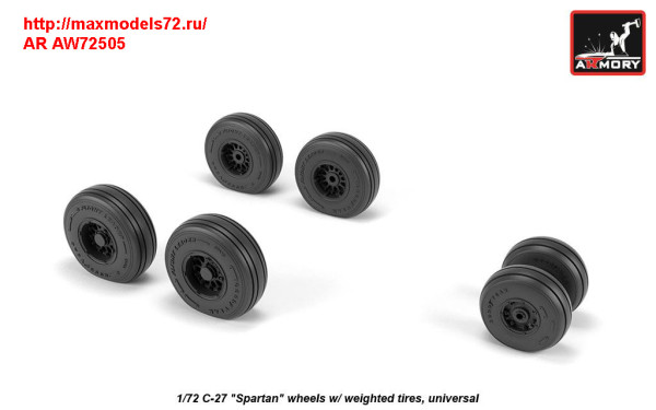 AR AW72505   1/72 C-27 «Spartan» wheels w/ weighted tires (thumb31432)