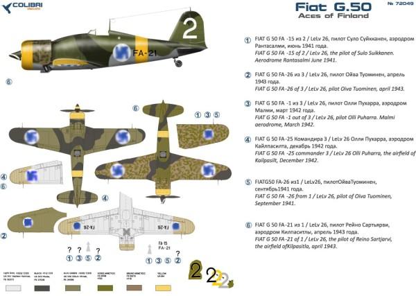 CD72049   Fiat G-50 Finnish aces (thumb30875)