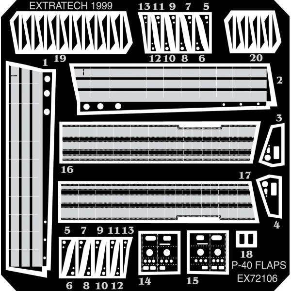 EX72106 CURTISS P-40M/N FLAPS (ACADEMY) (thumb28236)