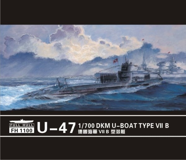 FH1100   U-boat Type VII B  DKM U-47 (2set) (thumb31075)