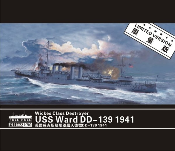 FH1106S   Wickes Class Destroyer USS Ward DD-139 1941(Limited version? (thumb31098)