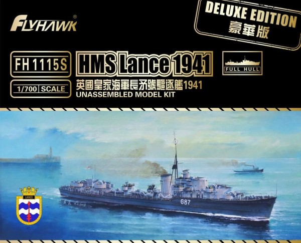 FH1115S   Light Cruiser HMS Lance 1941(Deluxe Edition) (thumb31129)
