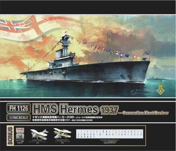 FH1126   HMS Hermes 1937?Coronation Fleet Review? (thumb31160)