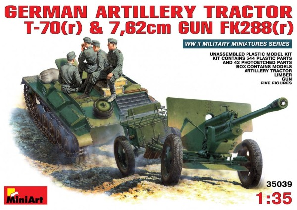 MA35039   German artillery tractor T-70(r) with 7,62cm FK 288(r) (thumb26040)