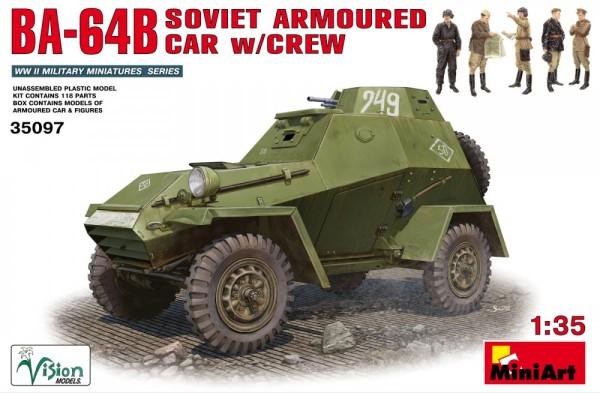 MA35097   BA-64B Soviet Armoured Car w/crew (thumb26241)
