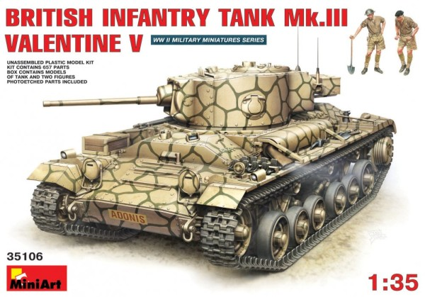 MA35106   British infantry tank Mk.3 Valentine V with crew (thumb26295)
