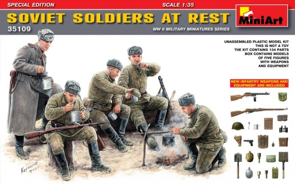 MA35109   Soviet gun crew at rest. Special edition (thumb26313)