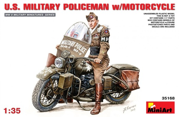 MA35168   U.S.Millitary policeman with motorcycle (thumb26586)
