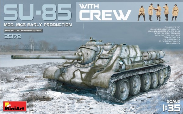 MA35178   SU-85 model 1943 with crew, early production (thumb26649)