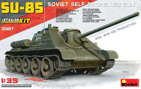 MA35187   SU-85 Mod. 1943 (Mid Production) w/Full Interior (thumb26697)
