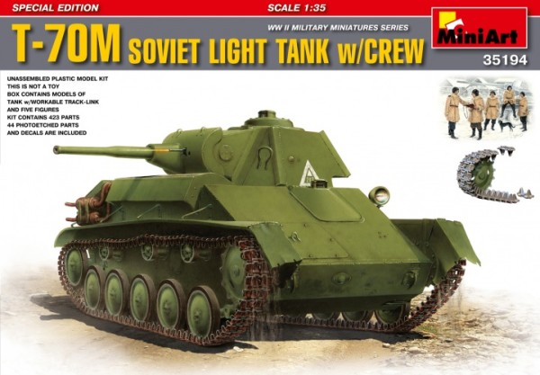 MA35194   T-70M Soviet light tank with crew. Special edition (thumb26728)