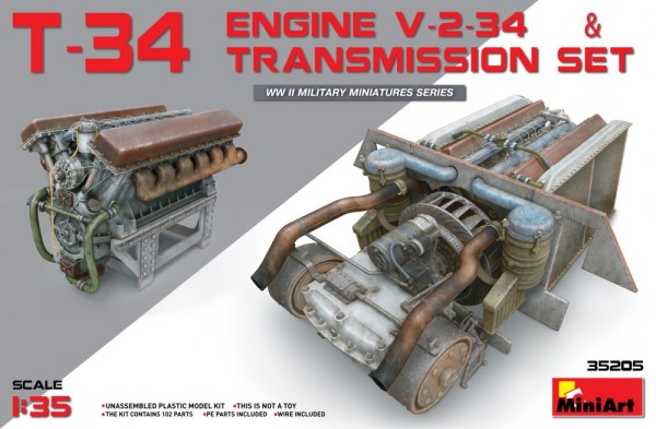 MA35205   T-34 engine (V-2-34) & transmission set (thumb26772)