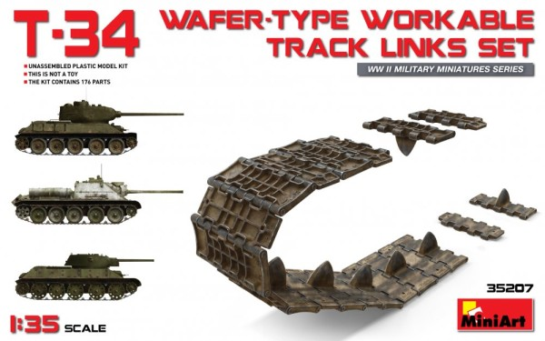 MA35207   T-34 wafer-type workable track links set (thumb26778)