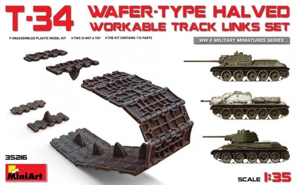 MA35216   T-34 wafer-type halved workable track links set (thumb26806)