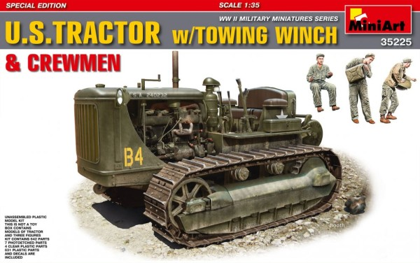 MA35225   U.S.Tractor w/towing winch & crewmen. Special Edition (thumb26830)
