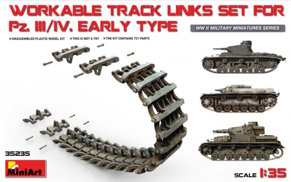 MA35235   Pz.Kpfw III/IV workable track links set, early type (thumb26867)