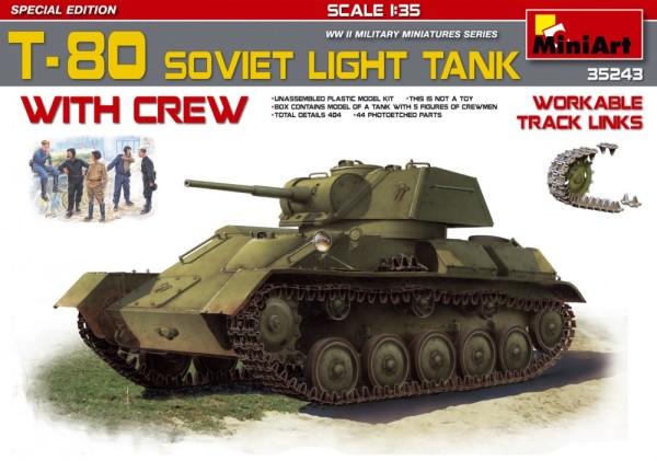 MA35243   T-80 Soviet light tank w/crew. Special Edition (thumb26891)