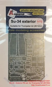 A-squared72001   SU-34 - Exterior PE set  for Trumpeter kit (#01652) (thumb34661)