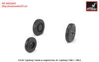 AR AW32401   1/32 EE Lightning-II wheels w/ weighted tires, early (attach3 27756)