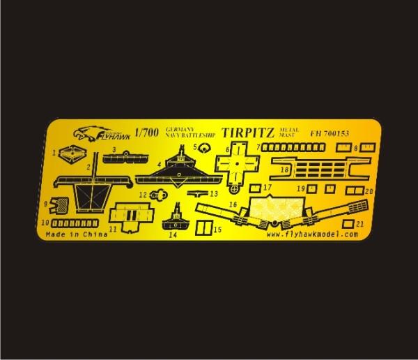 FH700153   Germany Navy Tirpitz Metal Mast (thumb31698)