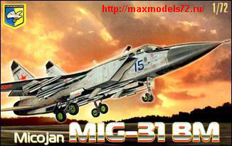 "KO7204   MiG-31 BM ""Foxhound"" Soviet interceptor (thumb25665)"