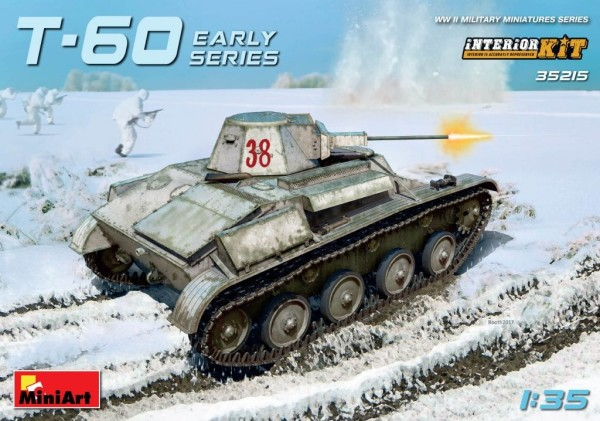 MA35215   T-60 tank, early series (Gorky automobile plant). Interior kit (thumb26798)