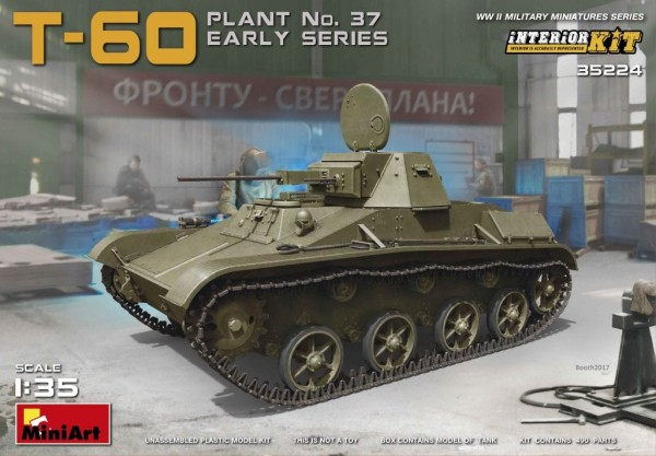MA35224   T-60 tank (plant No.37) early series. Interior kit (thumb26822)