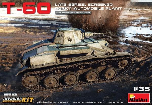MA35232   T-60 tank, late series, screened (Gorky Automobile Plant). Interior kit (thumb26858)