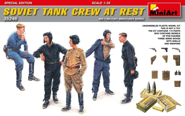 MA35246   Soviet tank crew at rest. Special edition (thumb26902)