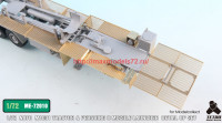 TetraME-72010   1/72 NATO M1001 Tractor & Pershing II Missile Launcher Detail up set  for Modelcollect (attach8 34054)
