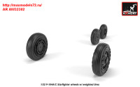 AR AW32302   1/32 F-104A/C Starfighter early type wheels, w/ optional nose wheels, weighted (attach4 31350)
