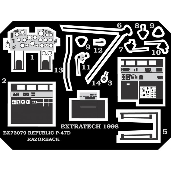 EX72079 REP. P-47D RAZORB.COCKPIT (ACADEMY) (thumb28200)