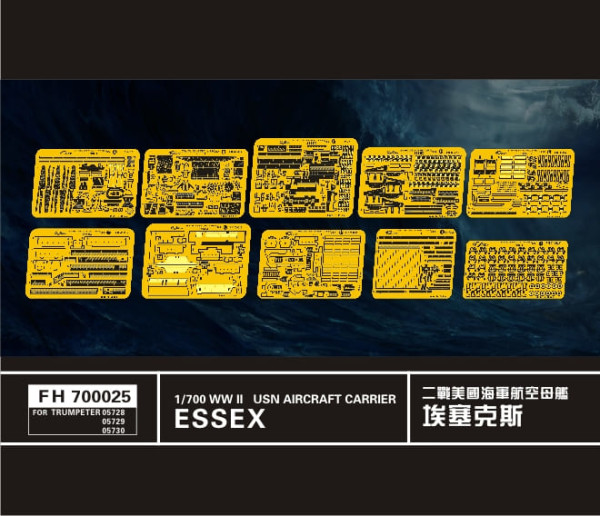 FH700025   WW II   USN Aircraft Carrier Essex (For Trumpeter0572857295730)) (thumb31513)