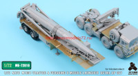 TetraME-72010   1/72 NATO M1001 Tractor & Pershing II Missile Launcher Detail up set  for Modelcollect (attach7 34054)
