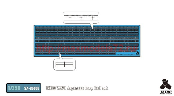 TetraSA-35005   1/350 WWII Japanese navy Rail set (thumb36907)