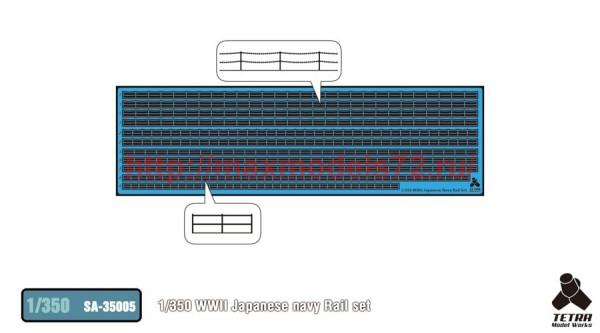 TetraSA-35005   1/350 WWII Japanese navy Rail set (thumb36907)