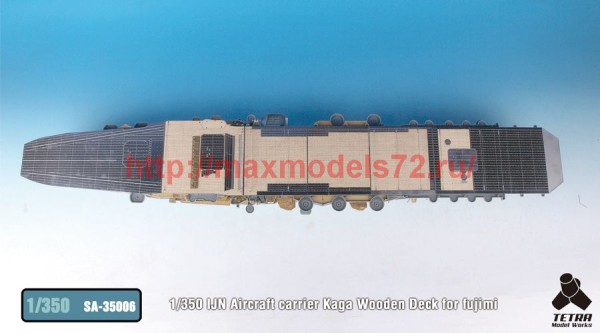 TetraSA-35006   1/350 IJN Aircraft carrier Kaga Wooden Deck for fujimi (thumb36909)