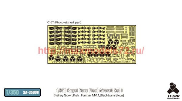 TetraSA-35009   1/350 Royal Navy Fleet Aircraft Set I (Sowrdfish, Fulmar MKI, Blackburn Skua) for Merit (thumb36930)
