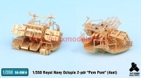 TetraSA-35014   1/350 Royal Navy Octuple 2-pdr «Pom Pom» (4set) (attach1 36947)