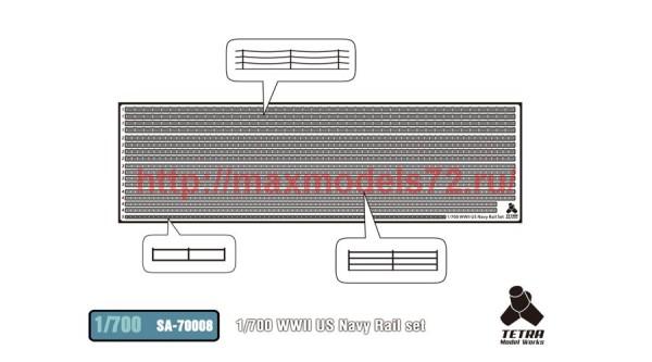 TetraSA-70008   1/700 WWII US Navy Rail set (thumb36983)