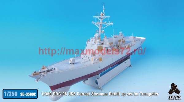 TetraSE-35002   1/350 DDG-98 USS Forrest Sherman Detail up set for Trumpeter (thumb36547)