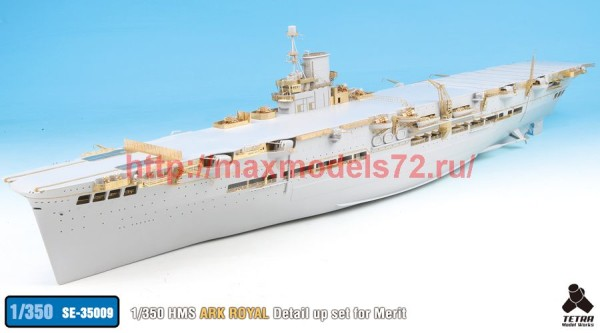 TetraSE-35009   1/350 HMS ArkRoyal Detail up set for Merit (thumb36619)