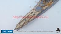 TetraSE-70004   1/700 IJN HARUNA 1944. 6 / 10 Detail up set w/ Barrel & Wooden Deck for FUJIMI (attach5 36660)