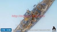 TetraSE-70004   1/700 IJN HARUNA 1944. 6 / 10 Detail up set w/ Barrel & Wooden Deck for FUJIMI (attach6 36660)
